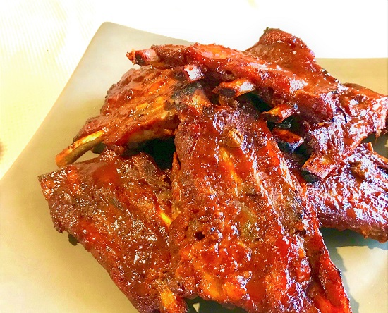 Bourbon Honey Pork Ribs